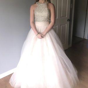 Jovani White and Silver Dress